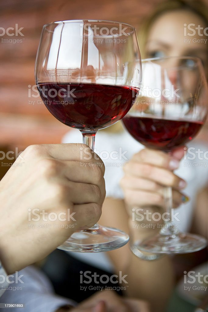 Rose wine toast royalty-free stock photo