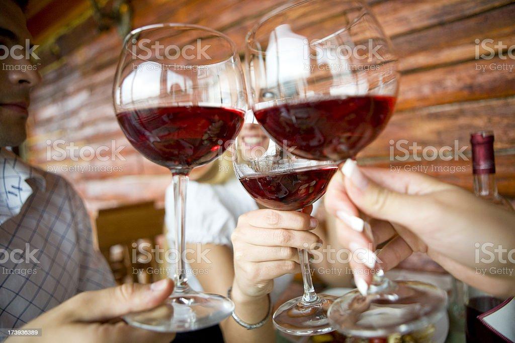 Rose wine toast royalty-free stock photo