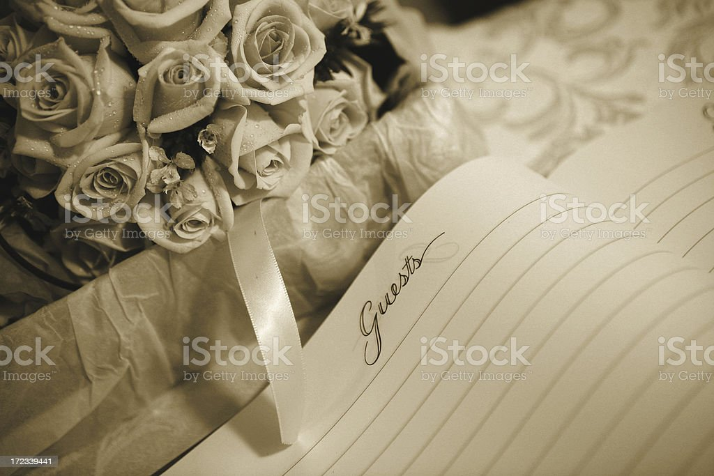 rose with guestbook royalty-free stock photo