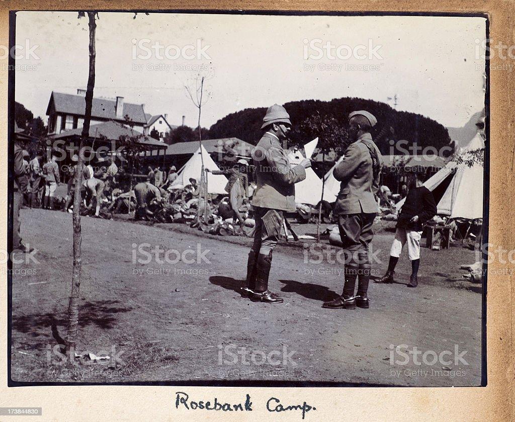 Rosebank Camp Boer War stock photo