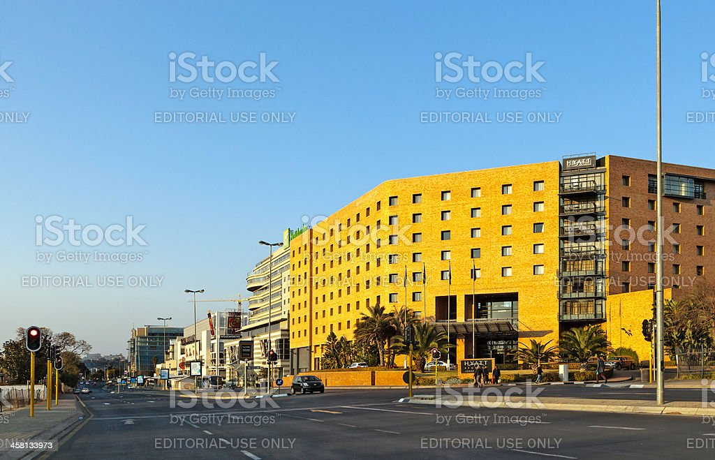 Rosebank Mall and Hotels stock photo