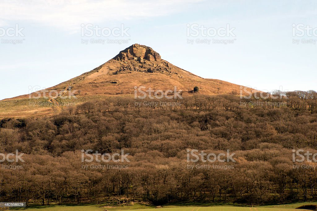 Roseberry topping,north yorkshire moors royalty-free stock photo