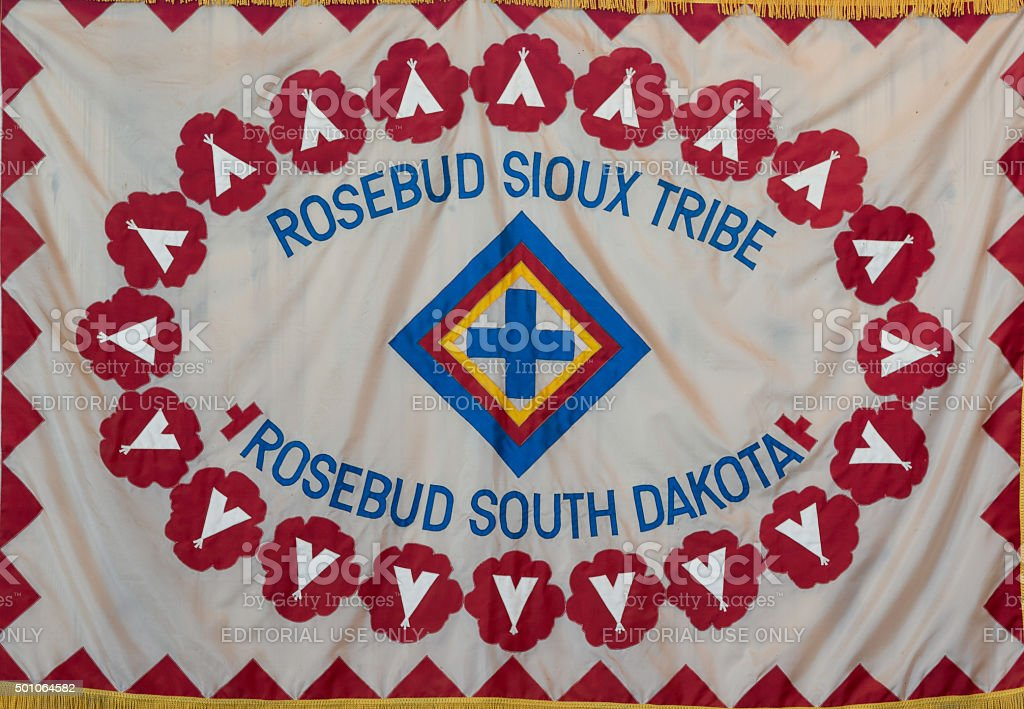 Rosebud Sioux Tribe flag stock photo