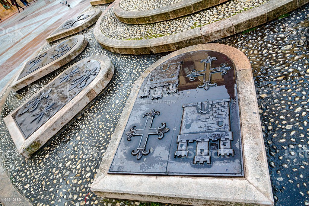 Rosel Square and San Blas. Soria Spain stock photo