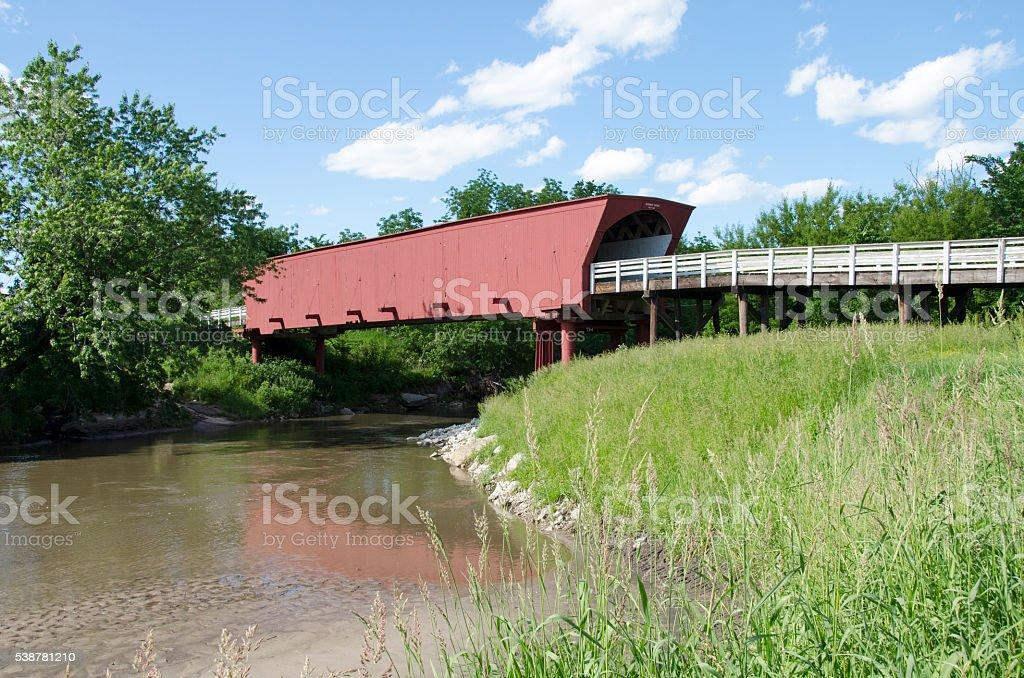 Roseman Covered Bridge, Madison County, Iowa stock photo