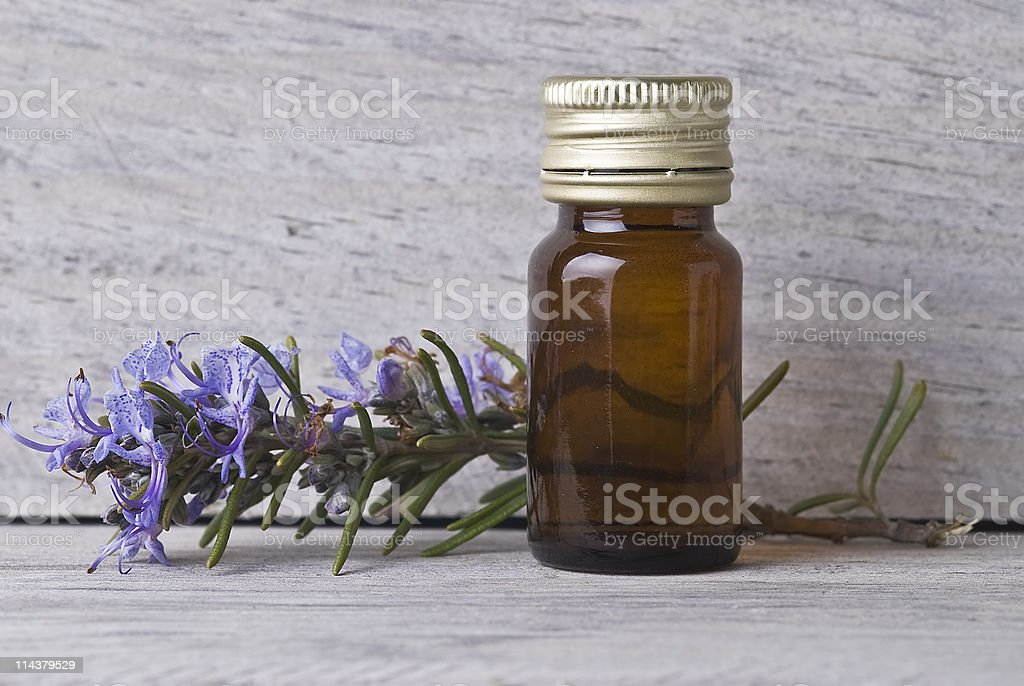Rosemary alcohol. royalty-free stock photo
