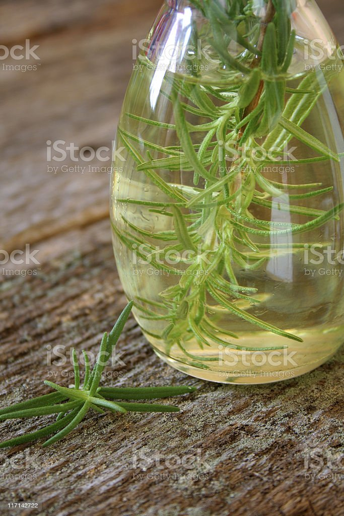 Rosemary and Oil stock photo