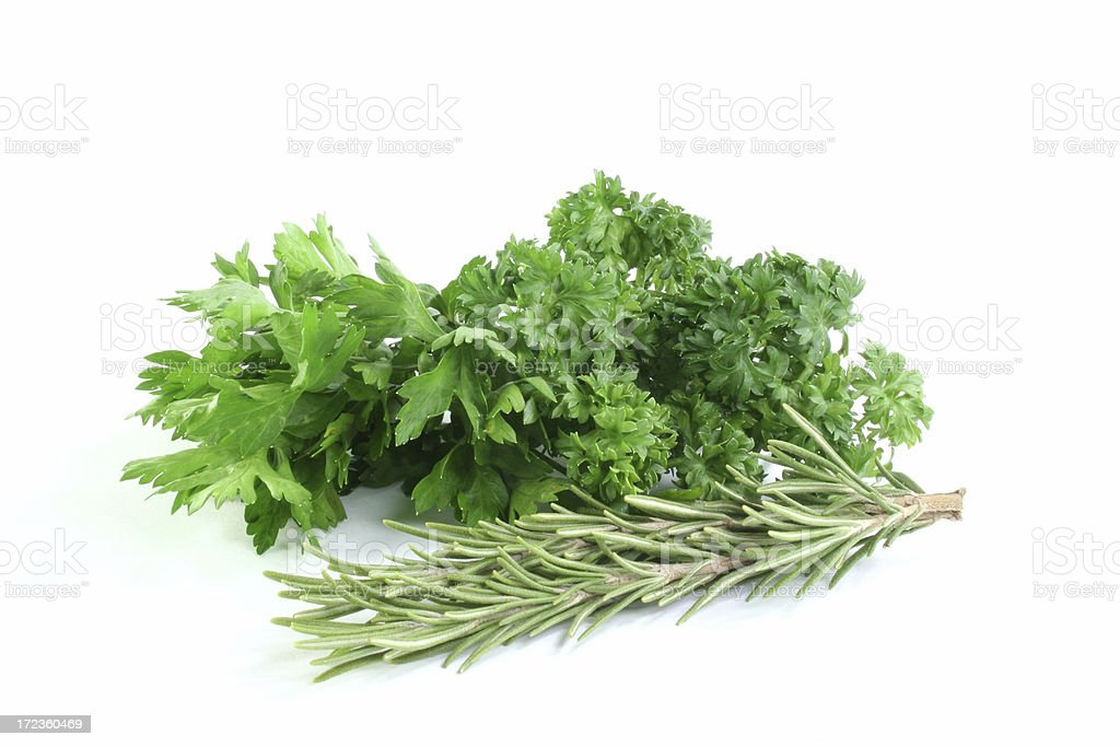 rosemary and parsley herbs spices royalty-free stock photo