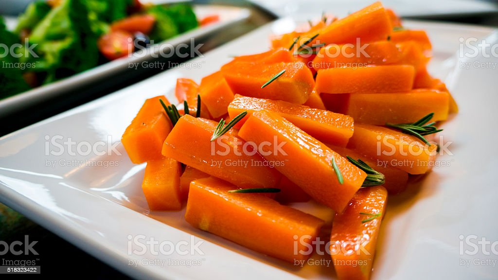 Rosemary Carrots stock photo