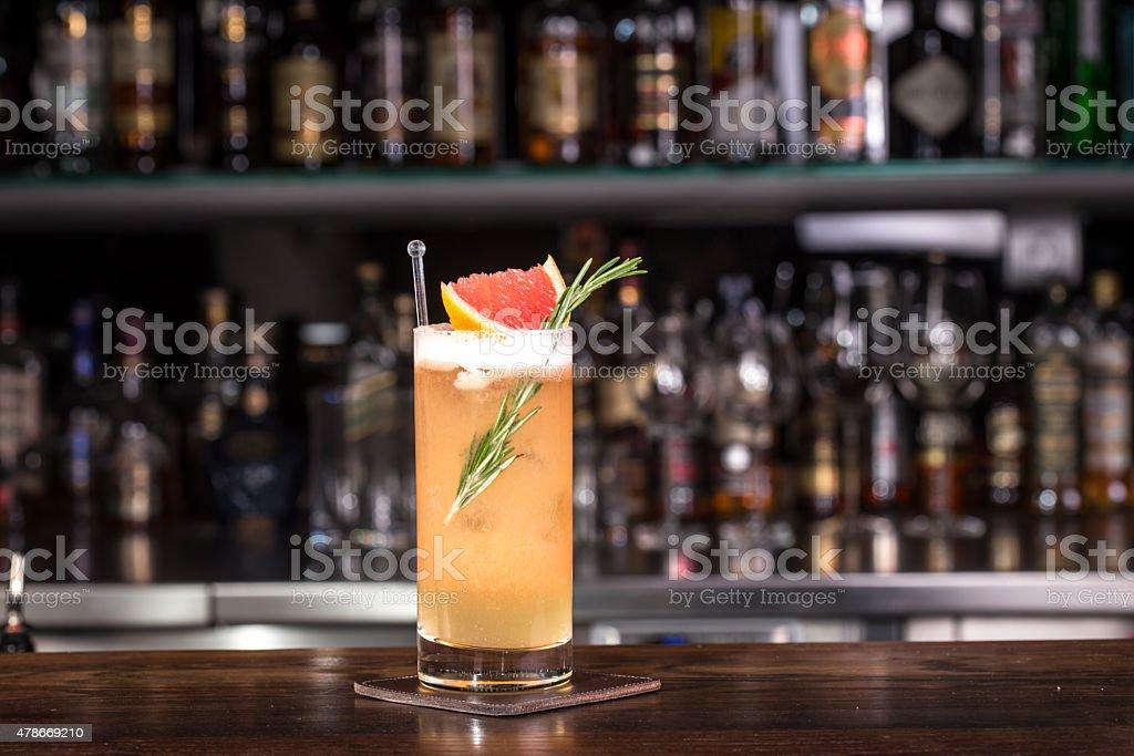 Rosemary cocktail stock photo