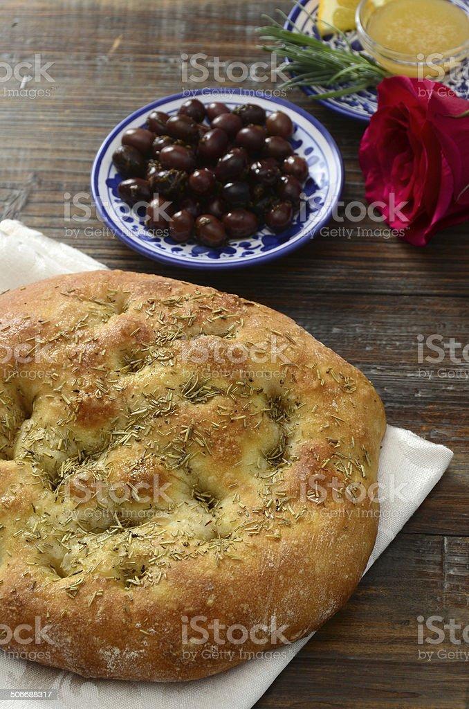Rosemary Focaccia Bread royalty-free stock photo