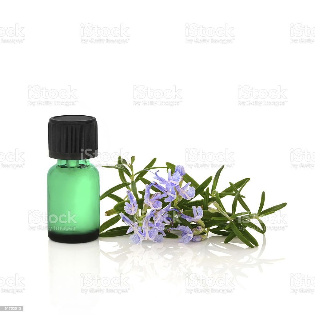 Rosemary Herb Essence royalty-free stock photo
