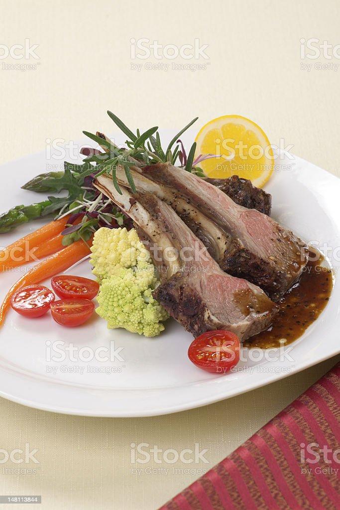 Rosemary Lamb Chops royalty-free stock photo
