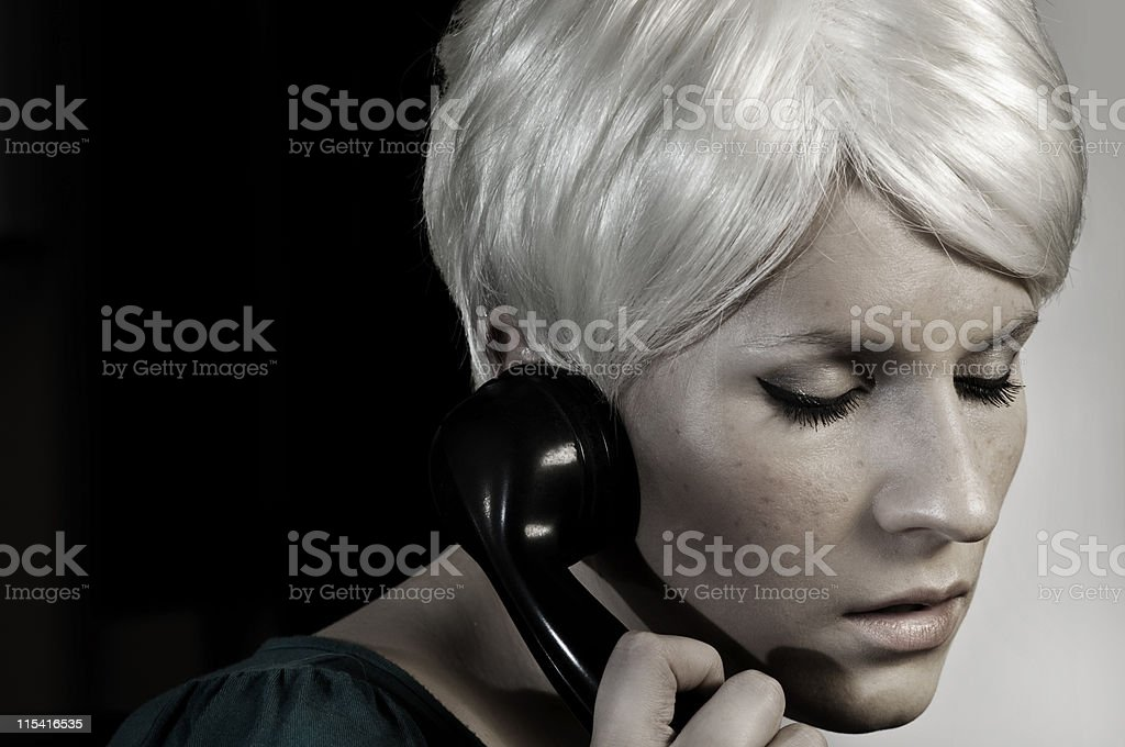 Rosemary on the phone royalty-free stock photo