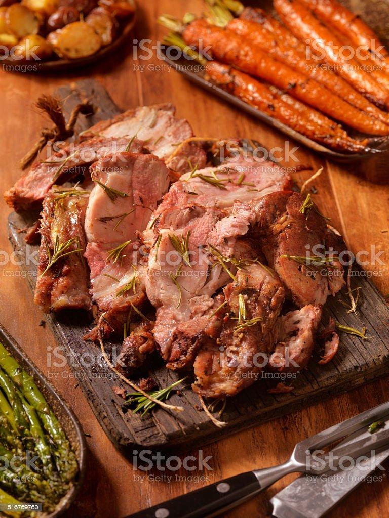 Rosemary Roasted Pork Loin Roast stock photo
