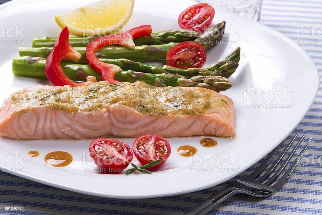 Rosemary Roasted Salmon royalty-free stock photo