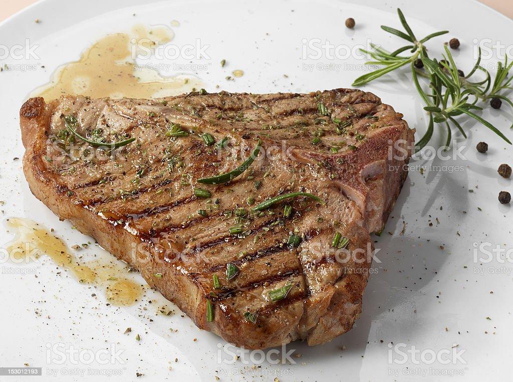 Rosemary steak stock photo