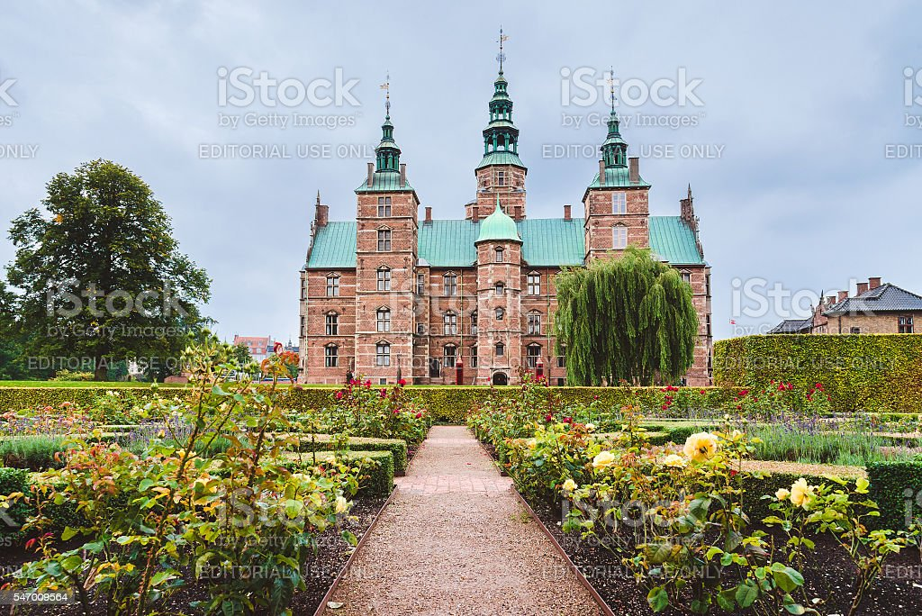 Rosenborg Castle and Garden in Copenhagen stock photo