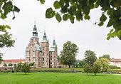 Rosenborg Castle and Park in Copenhagen On A Gray Day