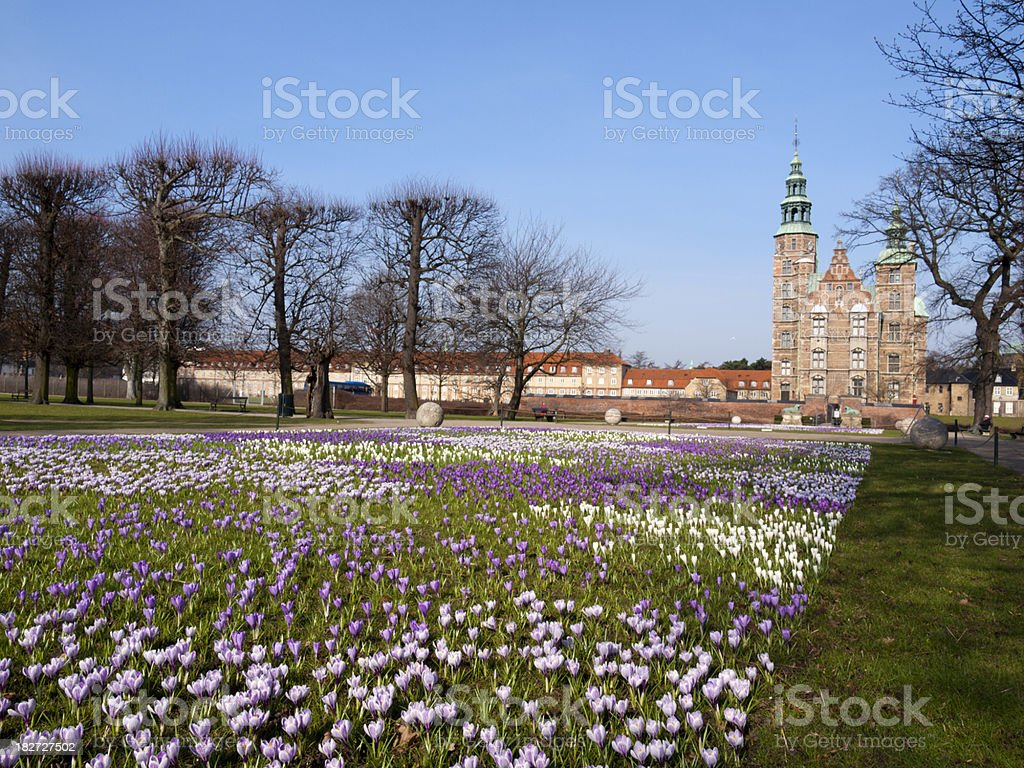 Rosenborg Castle at spring stock photo
