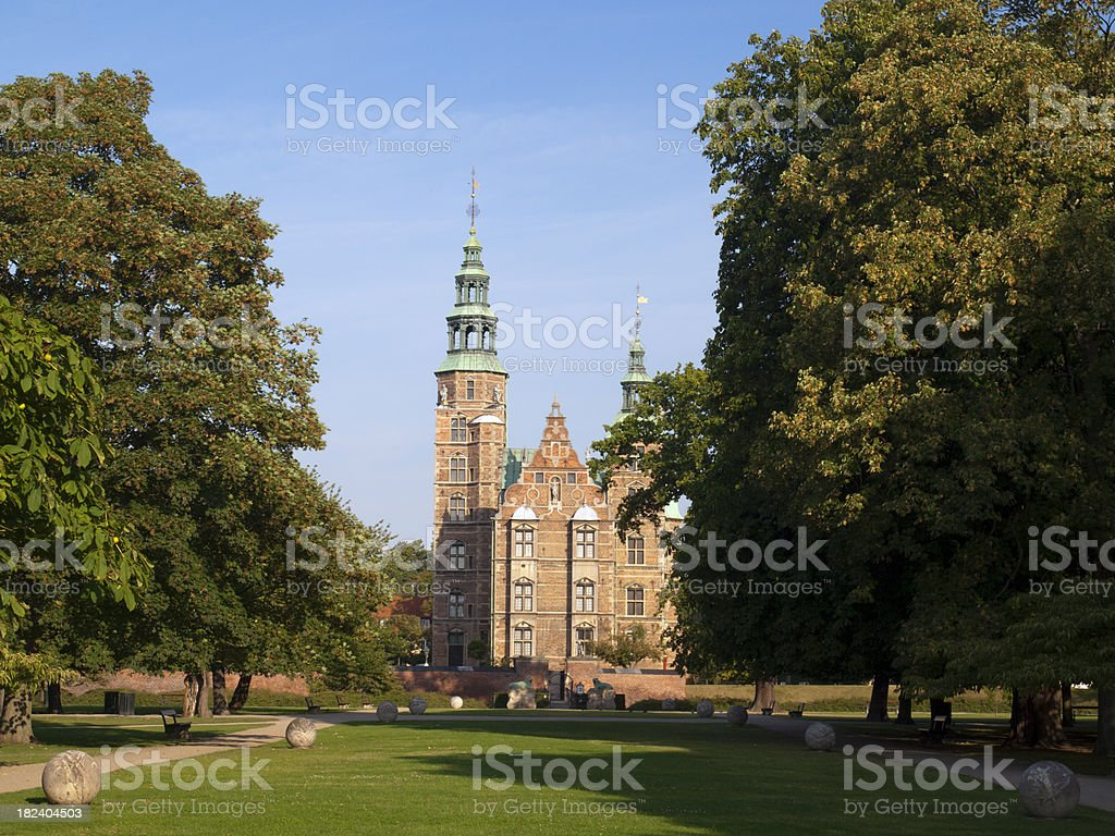 Rosenborg Castle, Copenhagen, Denmark stock photo