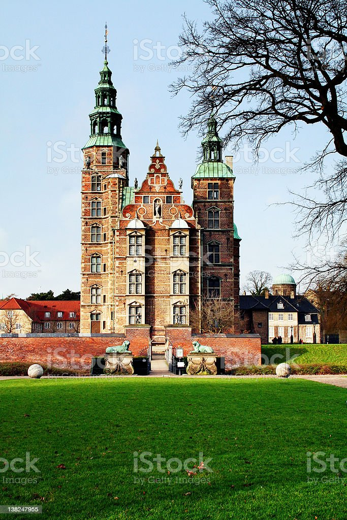 rosenborg castle copenhagen stock photo