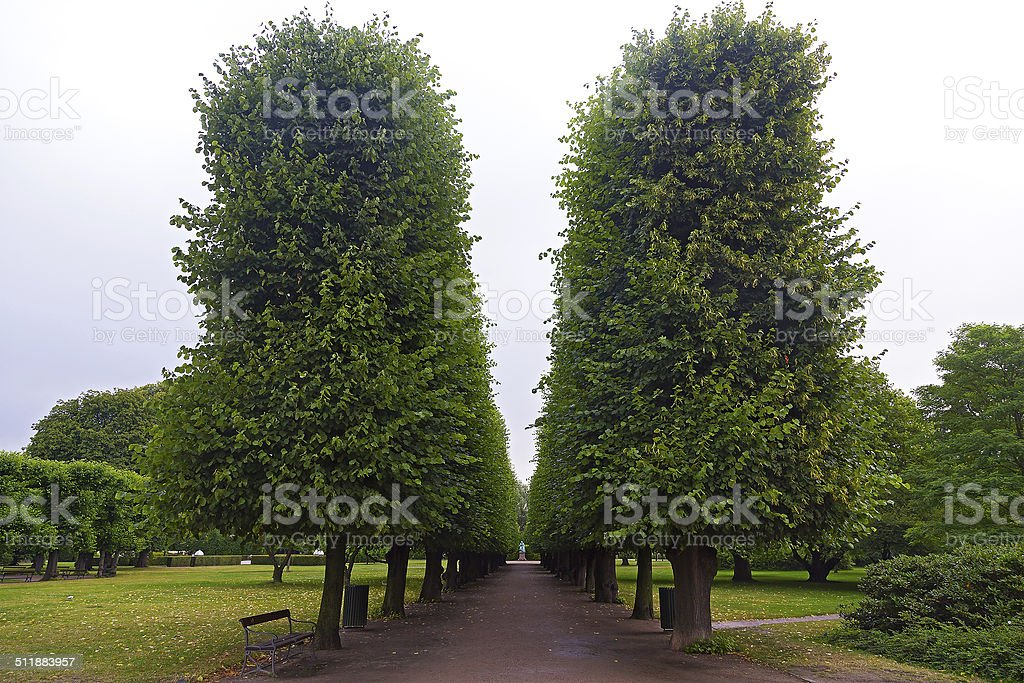 Rosenborg Castle Gardens in Copenhagen, Denmark stock photo