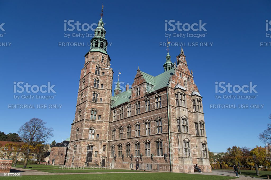 Rosenborg Castle in Copenhagen, Denmark stock photo