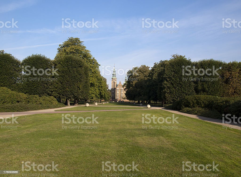 Rosenborg Castle in the morning light stock photo