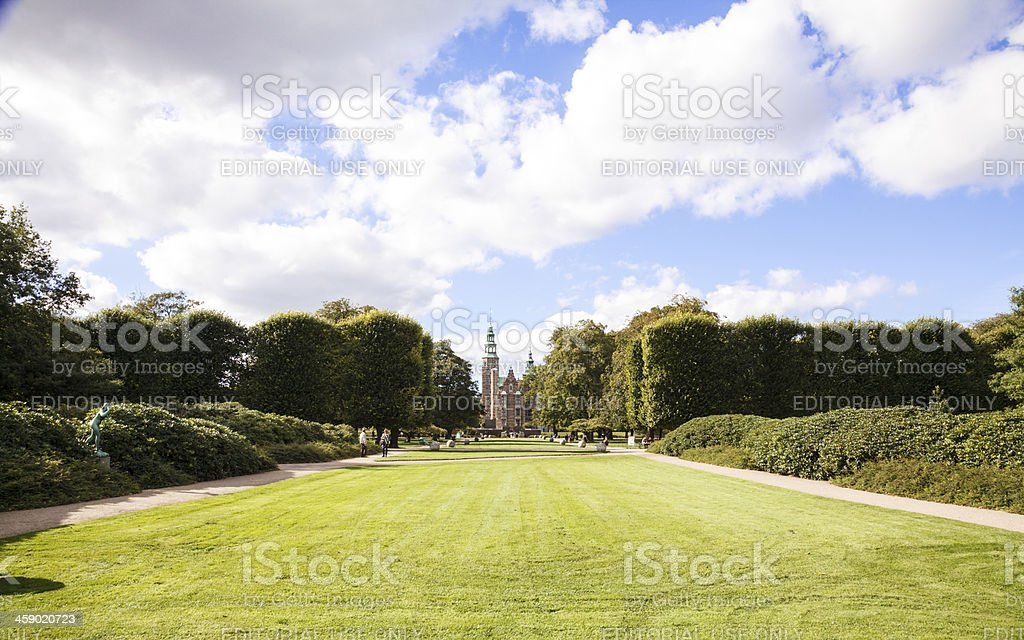 Rosenborg Castle stock photo