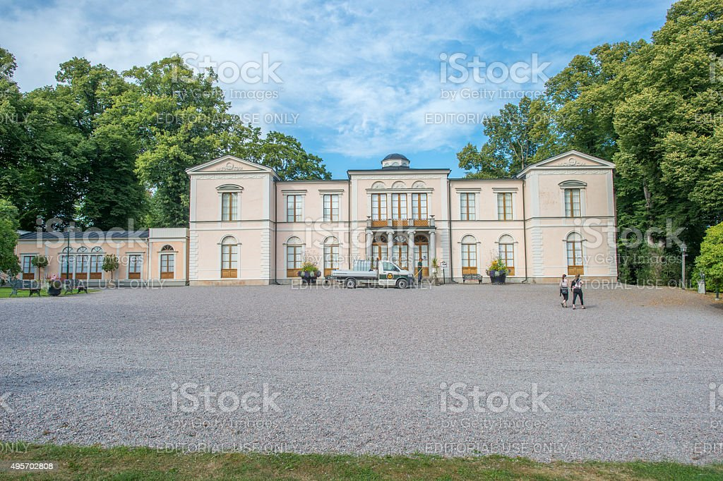 Rosendal Palace a Royal Castle in Sweden stock photo