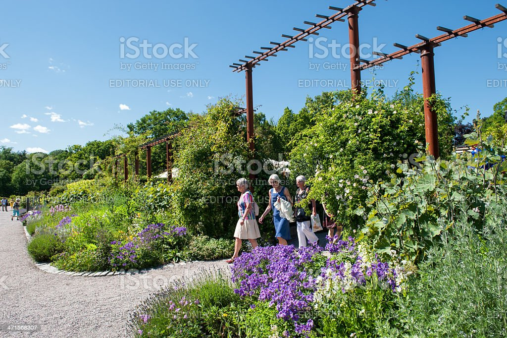 Rosendals Tradgard at summertime in Stockholm royalty-free stock photo