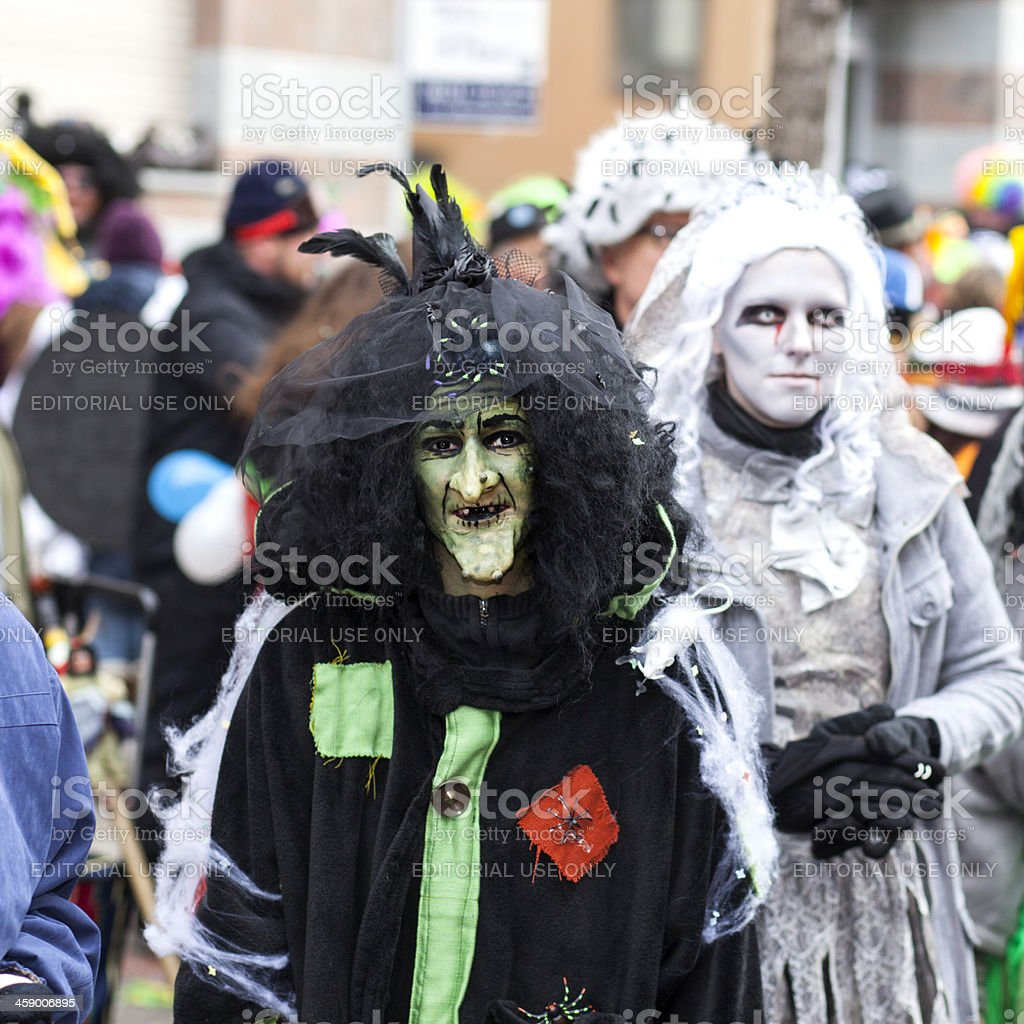 Rosenmontagszug, Street carnival on Rose Monday in Mainz, Germany royalty-free stock photo