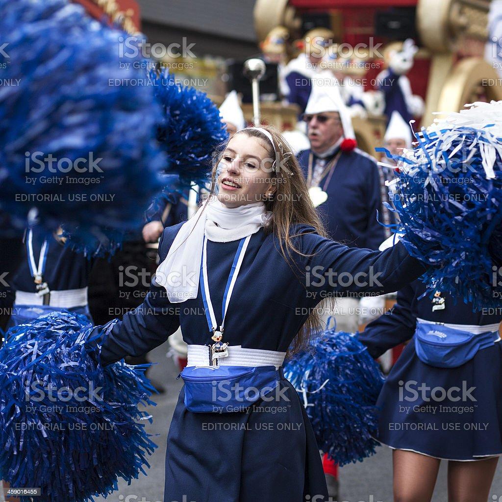 Rosenmontagszug, Street carnival on Rose Monday in Mainz, Germany royalty-free stock photo