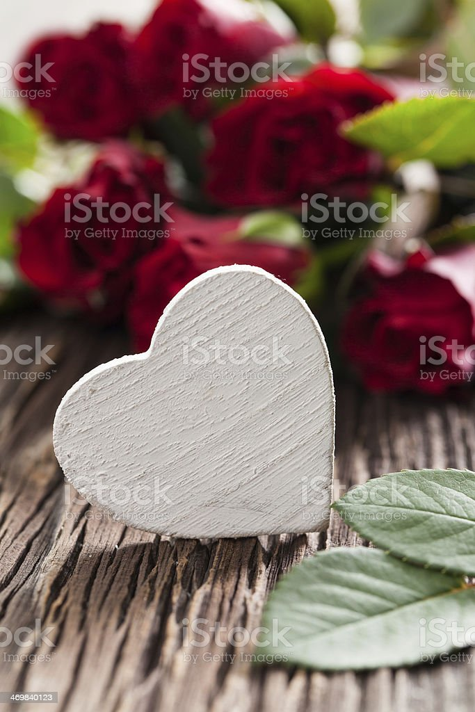 roses and heart royalty-free stock photo