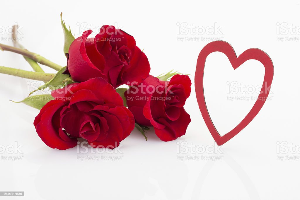 Roses And Heart Shaped Frame stock photo 505227835 | iStock