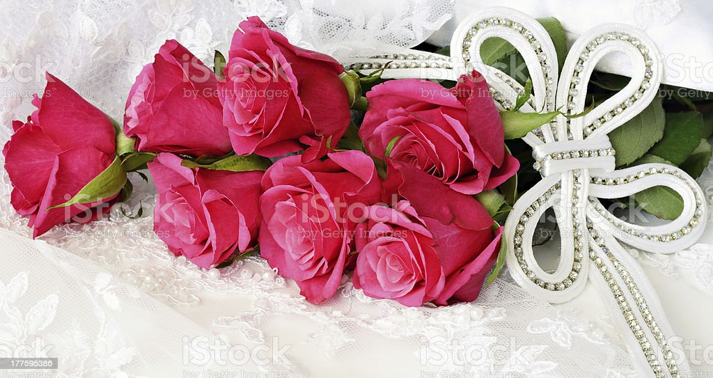 Roses and wedding decoration royalty-free stock photo
