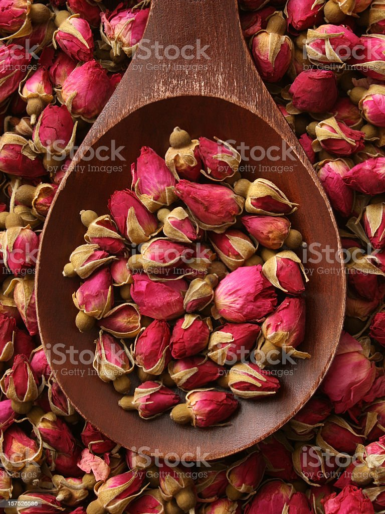 Roses for tea stock photo