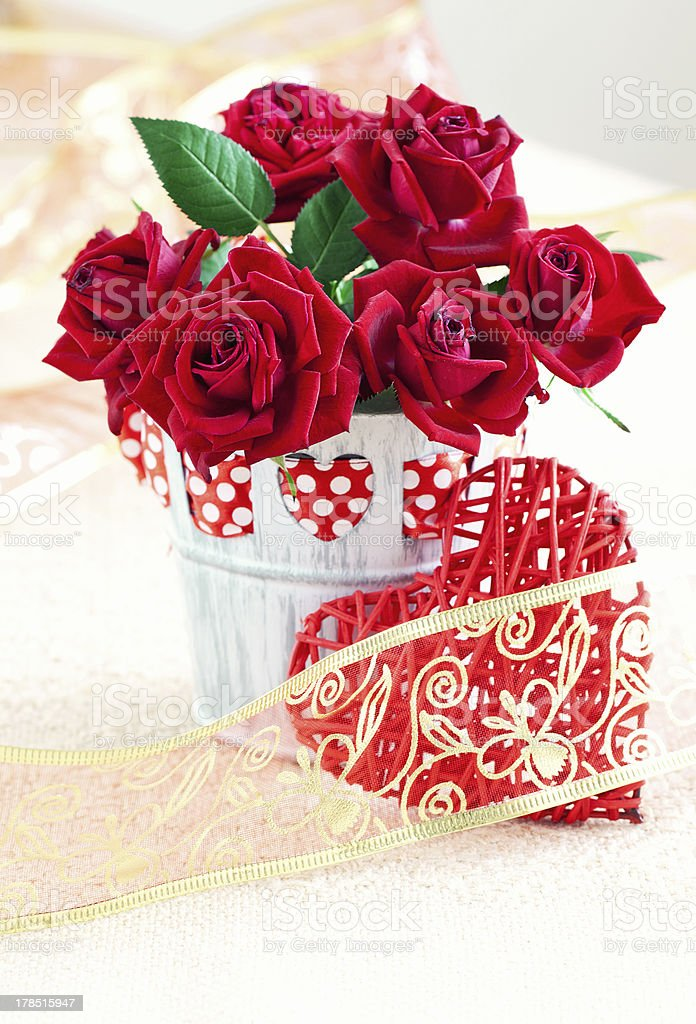 roses for Valentine's Day royalty-free stock photo