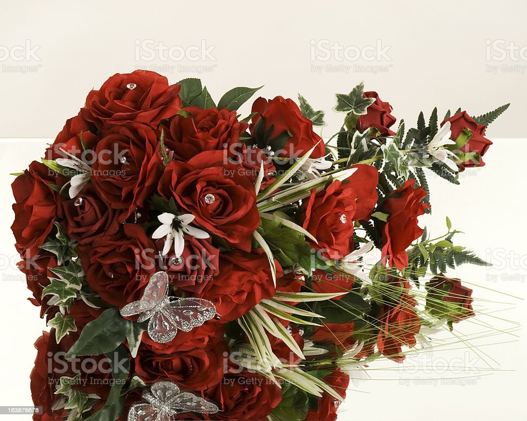roses on mirror royalty-free stock photo