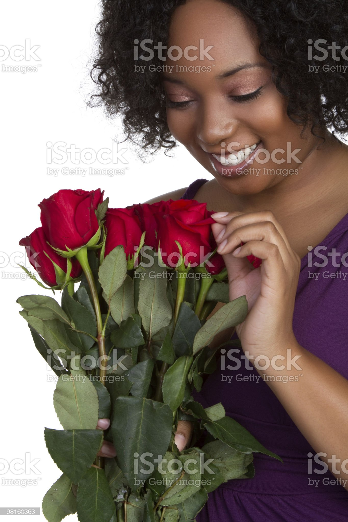 Roses Woman royalty-free stock photo