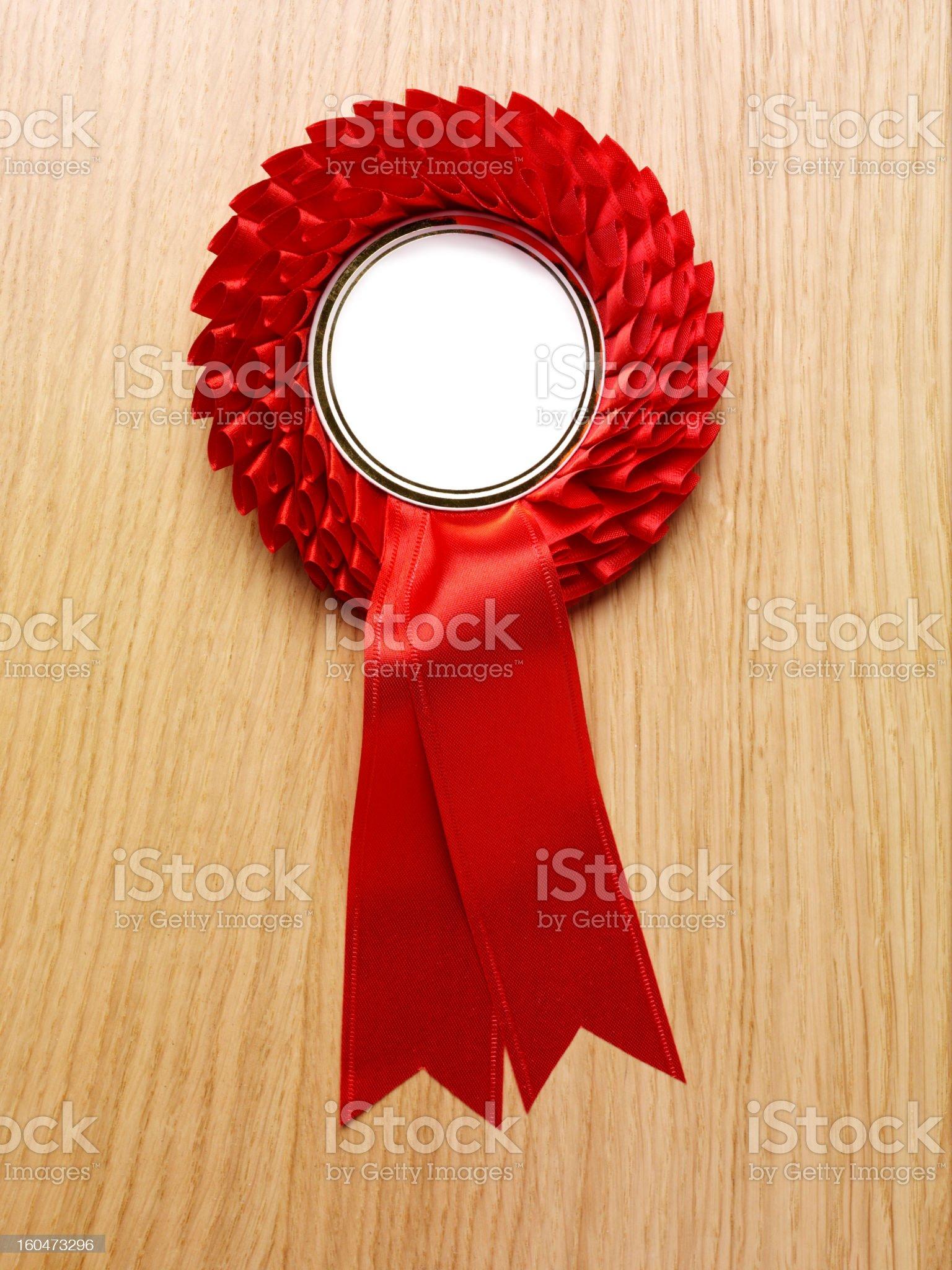 Rosette for Winning royalty-free stock photo