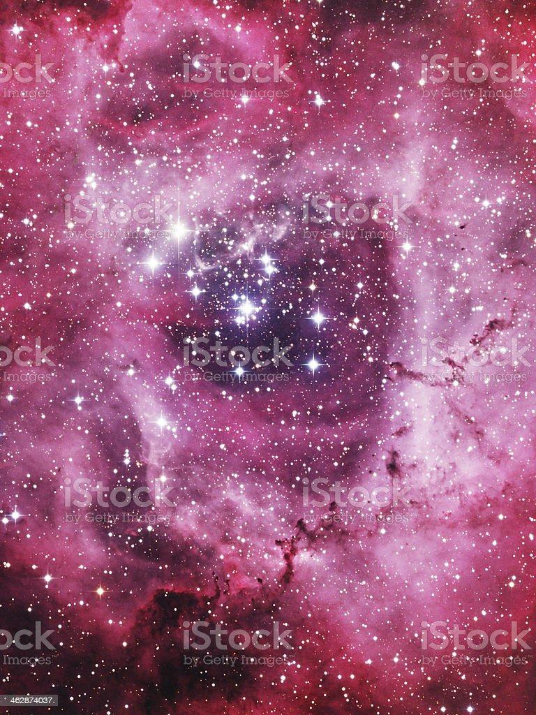 Rosette Nebula stock photo