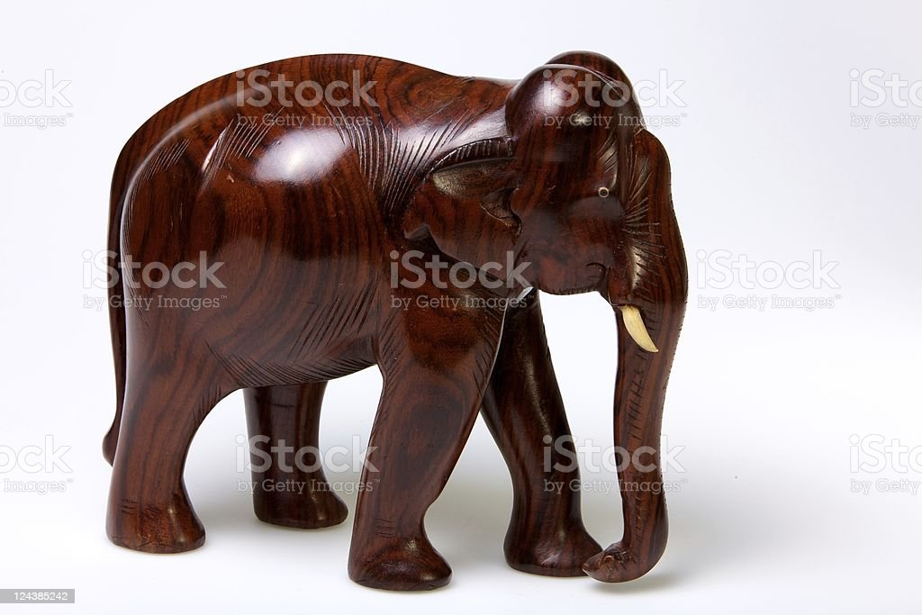 Rosewood Elephant from South India stock photo