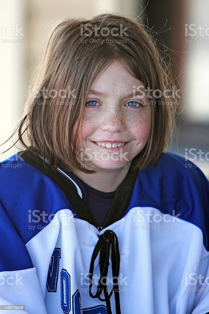 Rosey Cheeks and Freckles royalty-free stock photo