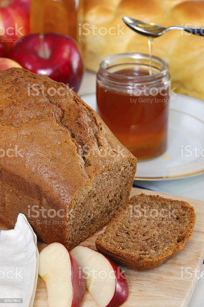 Rosh Hashana Honey Cake stock photo