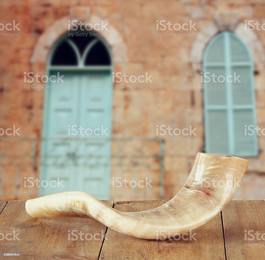 rosh hashanah (jewesh holiday) concept. traditional symbol stock photo