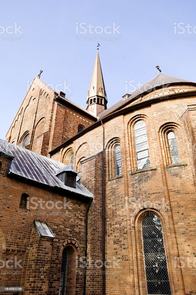 Roskilde Cathdedral stock photo