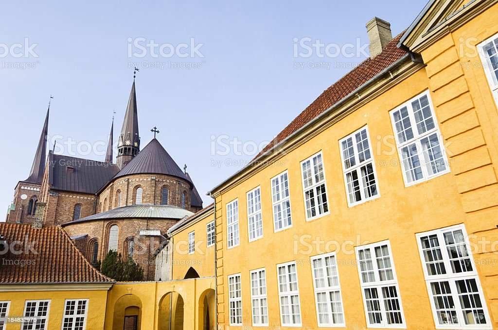 Roskilde Cathdedral & Royal Palace Denmark stock photo