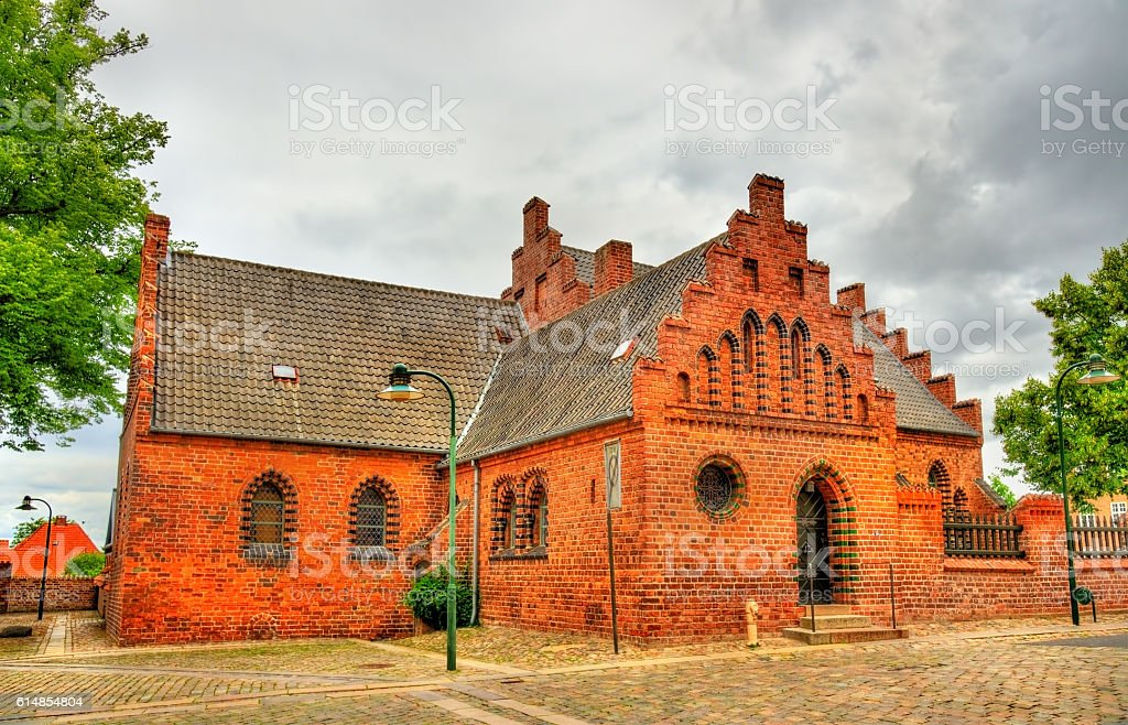 Roskilde Cathedral, a UNESCO Heritage Site in Denmark stock photo